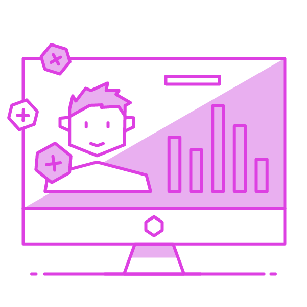 leads and analytics icon